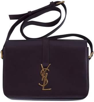 Saint Laurent Universite Burgundy Leather Handbag