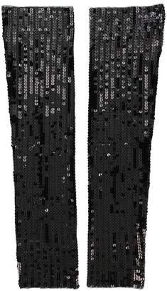 DSQUARED2 sequin embroidered gloves