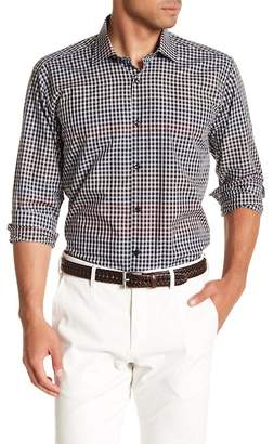 Jared Lang Mini Check Patterned Woven Shirt