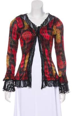 Alberto Makali Embellished Pleated Cardigan