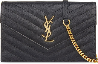 Saint Laurent Monogram quilted leather envelope clutch $1,140 thestylecure.com