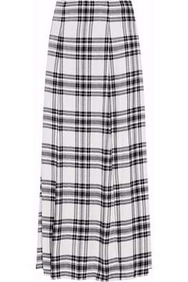 Alice + Olivia Alice+olivia Athena Checked Twill Maxi Skirt