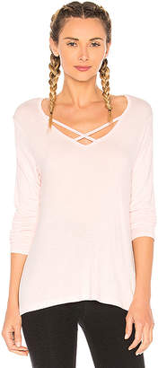 Beyond Yoga Cross Me Once Pullover Top