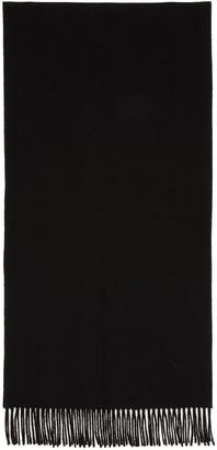 Acne Studios Black Canada Narrow Scarf $150 thestylecure.com