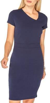 Dorothy Perkins Asymmetric V-Neck Pencil Dress