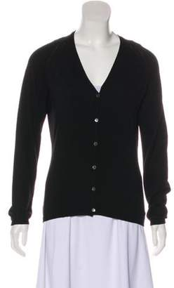 Loro Piana Wool Knit Cardigan Black Wool Knit Cardigan