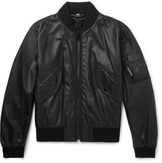 Burberry Leather Bomber Jacket