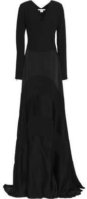 Antonio Berardi Paneled Crepe And Satin Gown