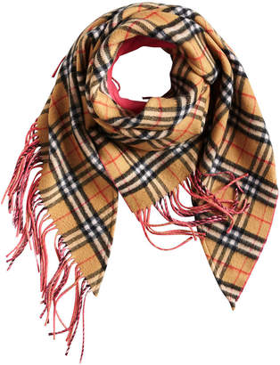 Burberry Bandana in Vintage Check and Neon Cashmere