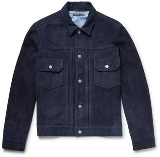 Richard James Suede Trucker Jacket