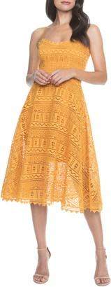 Dress the Population Brenna Lace Mix Dress