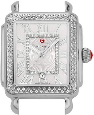 Michele Deco Madison Mid Diamond Watch Head, White