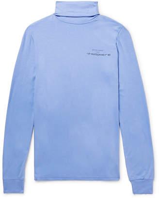 Raf Simons Slim-Fit Printed Stretch-Jersey Rollneck T-Shirt