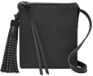 Elizabeth and James Sara Studded Textured-leather Shoulder Bag