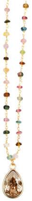Isabella Collection Tropea Gemstone Chain Confetti Necklace