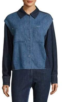 Public School Nora Quasay Denim Long-Sleeve Shirt
