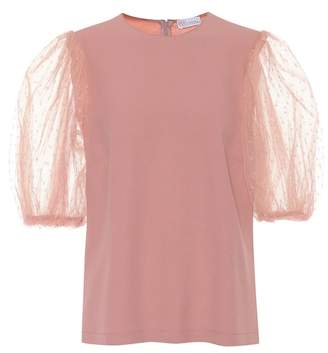 RED Valentino Crêpe and tulle top