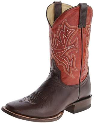 "Stetson Men's 11"" Shaft Double Welt Wide Square Toe Boot Boot 12 D - Medium"