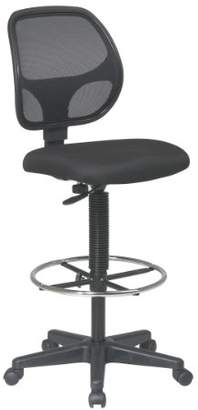 "Office Star Deluxe Mesh Back Drafting Chair with 18.5"" Diameter Adjustable Footring"