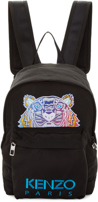 Kenzo Black Limited Edition Embroidered Tiger Backpack $195 thestylecure.com