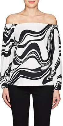 Lisa Perry Women's Swirl Crepe Off-The-Shoulder Top