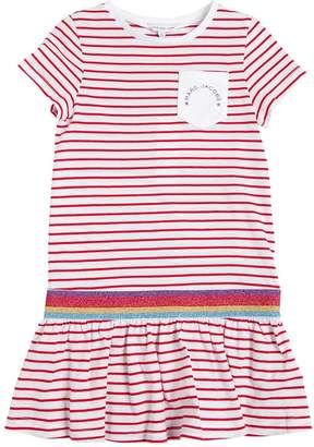 Little Marc Jacobs Striped Cotton Blend Jersey Dress