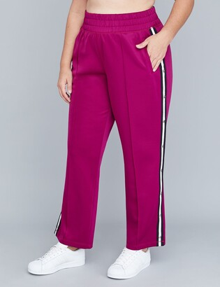 Lane Bryant Striped Active Tearaway Pant