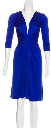 Issa Knot-Accented Knee-Length Dress w/ Tags