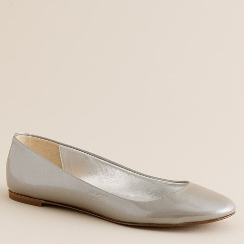 Sally pearlized patent ballet flats