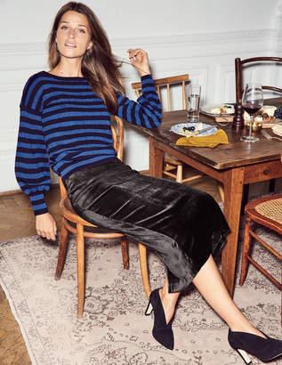Boden Lorna Velvet Pencil Skirt