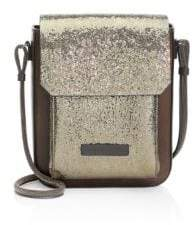 Brunello Cucinelli Broken Glass Leather Crossbody Bag