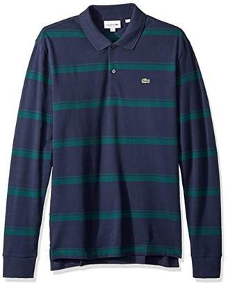 Lacoste Men's Long Sleeve REG FIT Pique Wide Stripe Polo
