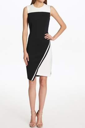 Tommy Hilfiger Asymmetrical Colorblock Sleeveless Dress