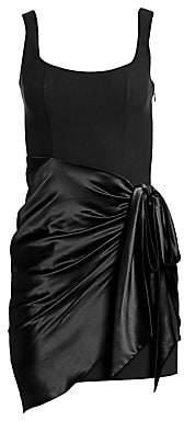Cinq à Sept Women's Waverly Satin Overlay Bodycon Dress - Size 0