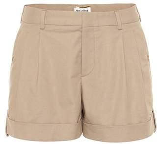 Saint Laurent Pleated cotton shorts