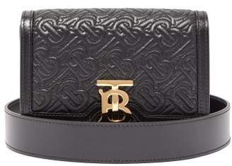 Burberry Tb Monogram Quilted Leather Belt Bag - Womens - Black