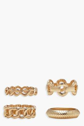 boohoo Chain Ring Pack