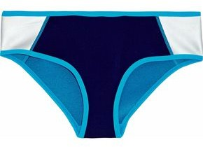 Duskii Metallic Color-block Neoprene Mid-rise Bikini Briefs