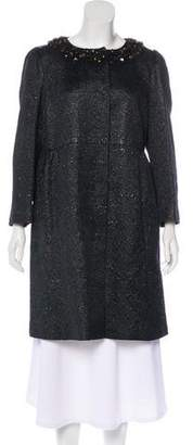 RED Valentino Jacquard Embellished Coat