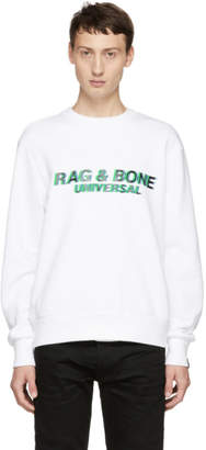 Rag & Bone White Glitch Sweatshirt