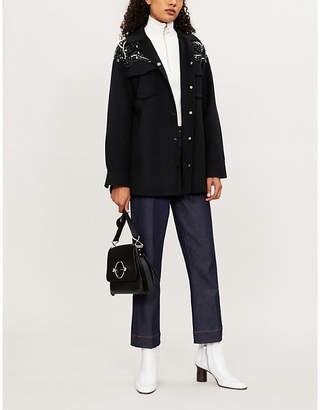 Sandro Versaille embellished wool-blend jacket