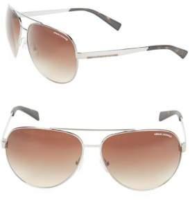 Armani Exchange AX2017S 64mm Aviator Sunglasses