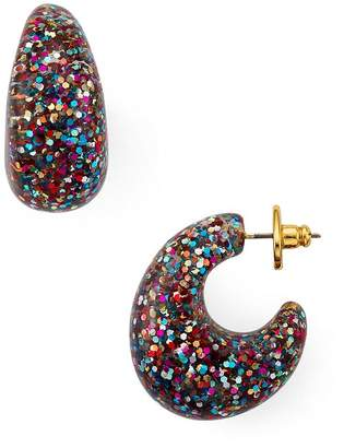Kate Spade Glitter Huggie Hoop Earrings