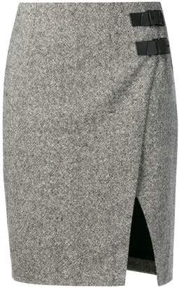 Lanvin double buckle skirt
