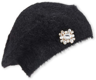 Betsey Johnson Knit Beret with Crystal Embellishments