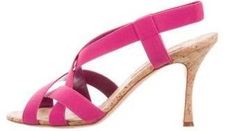 Manolo Blahnik Woven Crossover Sandals