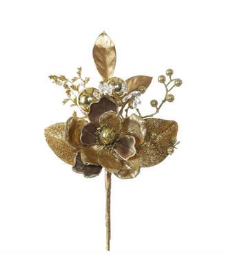 "Vickerman 19"" Gold Magnolia Artificial Christmas Spray, 3 Per Bag"