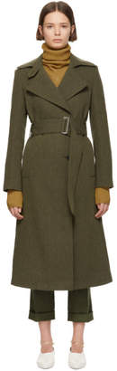 Victoria Beckham Brown Fitted Trench Coat