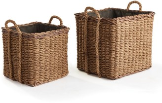 Set of 2 Woven Rope Baskets