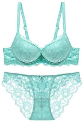 9c76443ced48 Suncolor8-Women Suncolor8 Women's Underwire Sexy Floral Lace Lingerie  Push-up Bra and Panties
